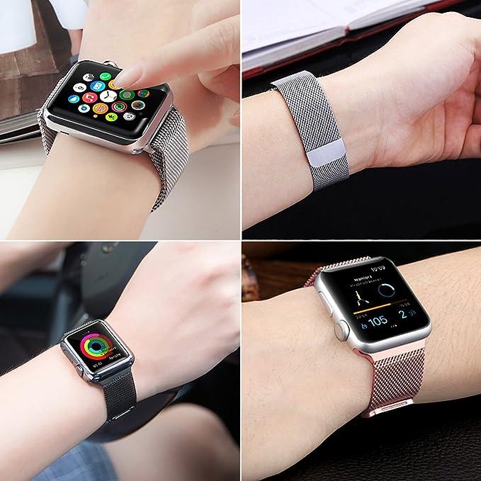6ebb15f11ab Pulseira Aço Loop Metal Para Apple Watch - Azul 42mm  Amazon.com.br   Celulares e Telefonia