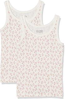 Melton Numbers, 2er-Pack AOP Mädchen Unterhemd - Camiseta de Tirantes Niñas