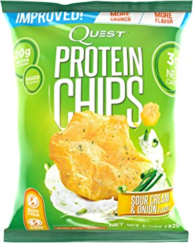 8-Count Quest Nutrition Protein Chips, Sour Cream & Onion