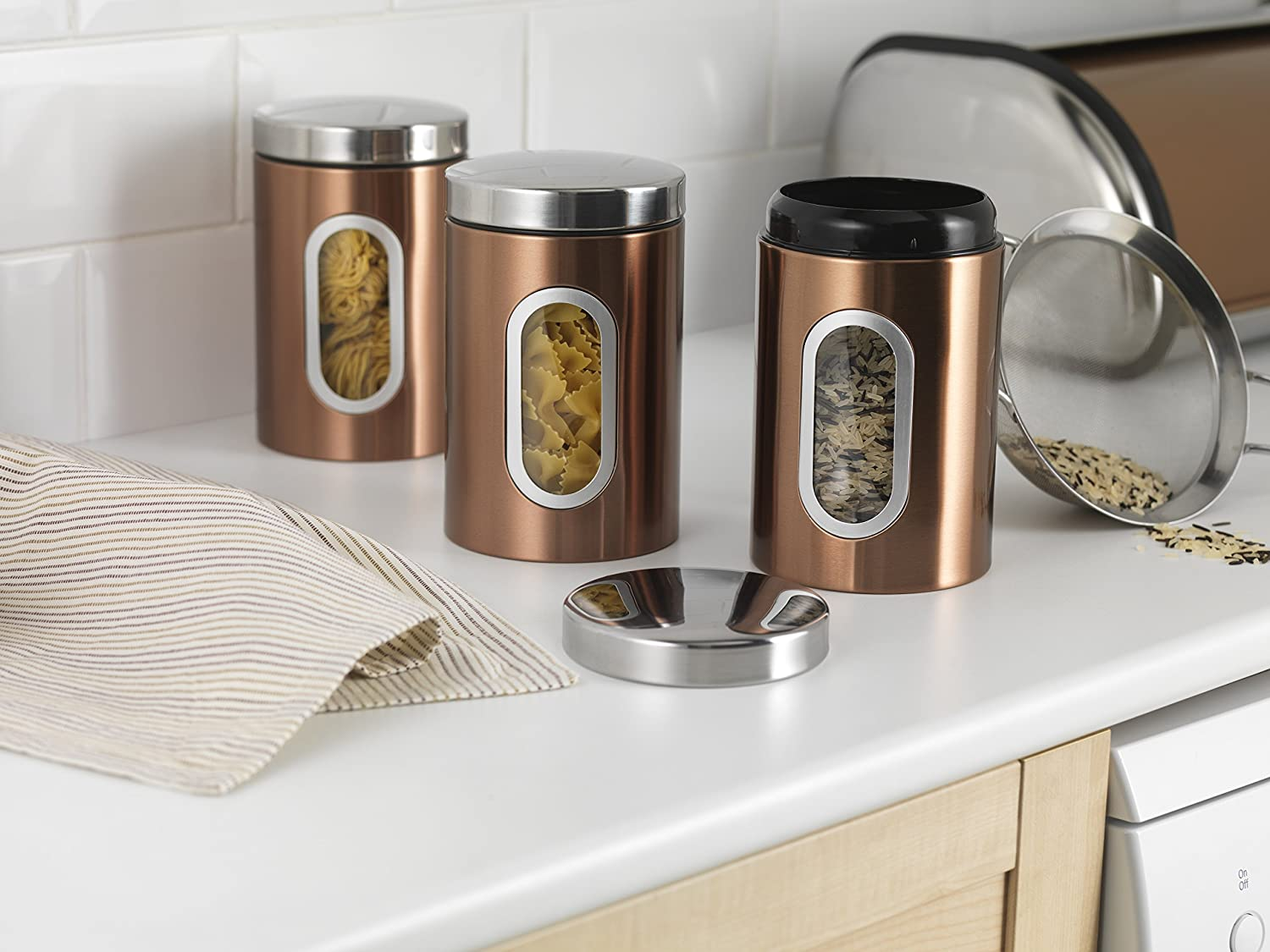 Addis Set of 3 Copper Canisters