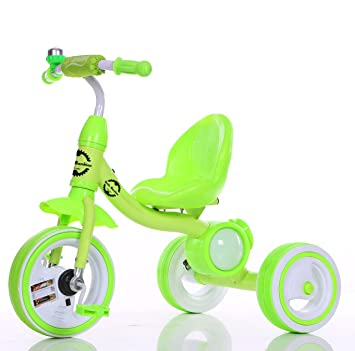 f5b0f4b87bd LittleBambino Kids Tricycle for Child and Toddler Metal Trike n Ride Bike  Outdoor Toy - Green