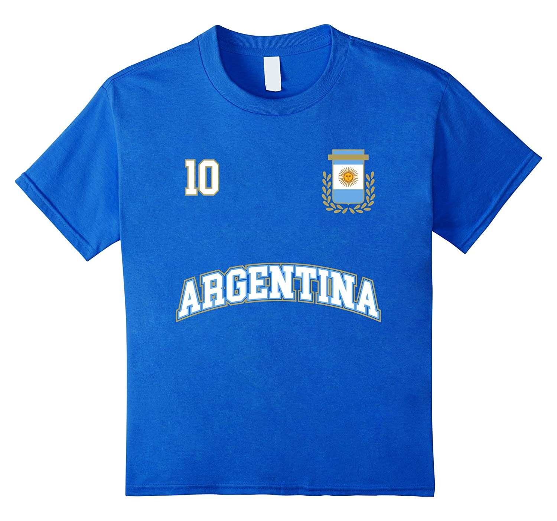 Amazon.com: Argentina Shirt Number 10 + BACK Soccer Team Sports Futbol: Clothing