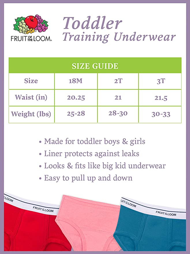 Fruit of the Loom Boys Potty Training Underwear Underwear 6 Pack