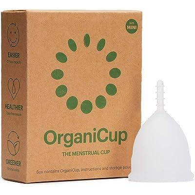 Copa menstrual OrganiCup - Talla Mini - Ganadora del los AllergyAwards 2019 - Aprobada por la FDA - Silicona suave, flexibe y reutilizable de grado medicinal …
