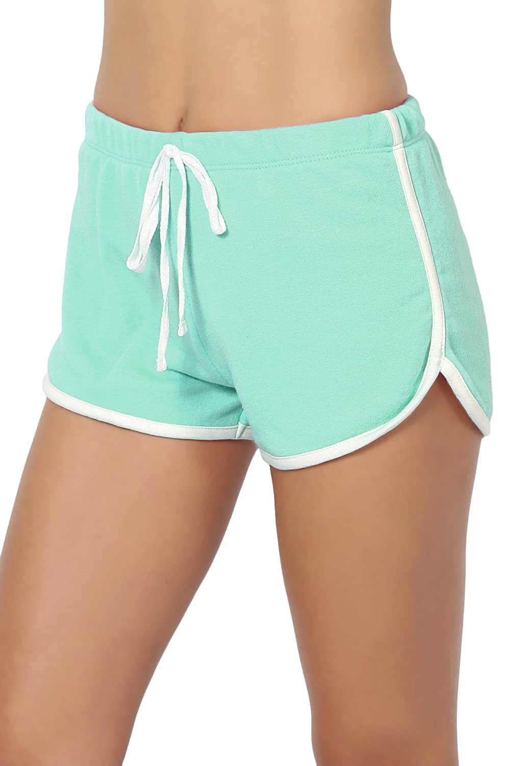 TheMogan Junior's Low to High Waist Workout Running Athletic Active Shorts