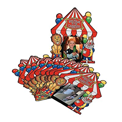 Fun Express Big Top Carnival Photo Cards - 12 Pieces: Home & Kitchen
