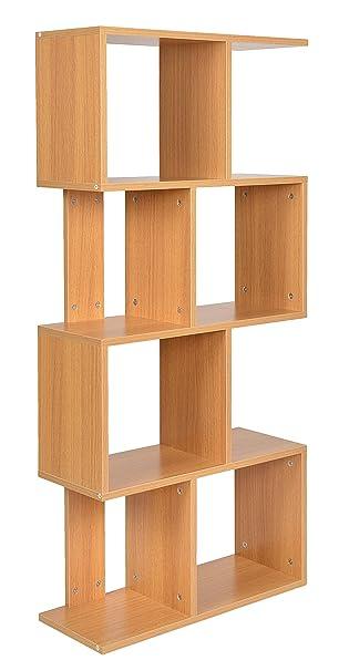 ts-ideen Standregal Bücherregal CD-Regal Aufbewahrung Holz Natur ...