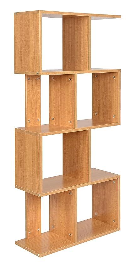 Holz bücherregal  ts-ideen Standregal Bücherregal CD-Regal Aufbewahrung Holz Natur ...