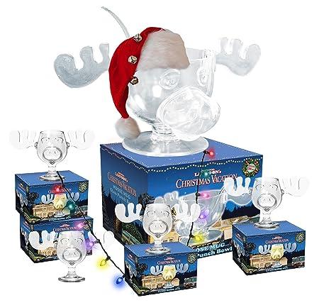 cultica griswold family moose glass mega set 4moose mugs punch bowl punch - Christmas Vacation Moose Mug Set