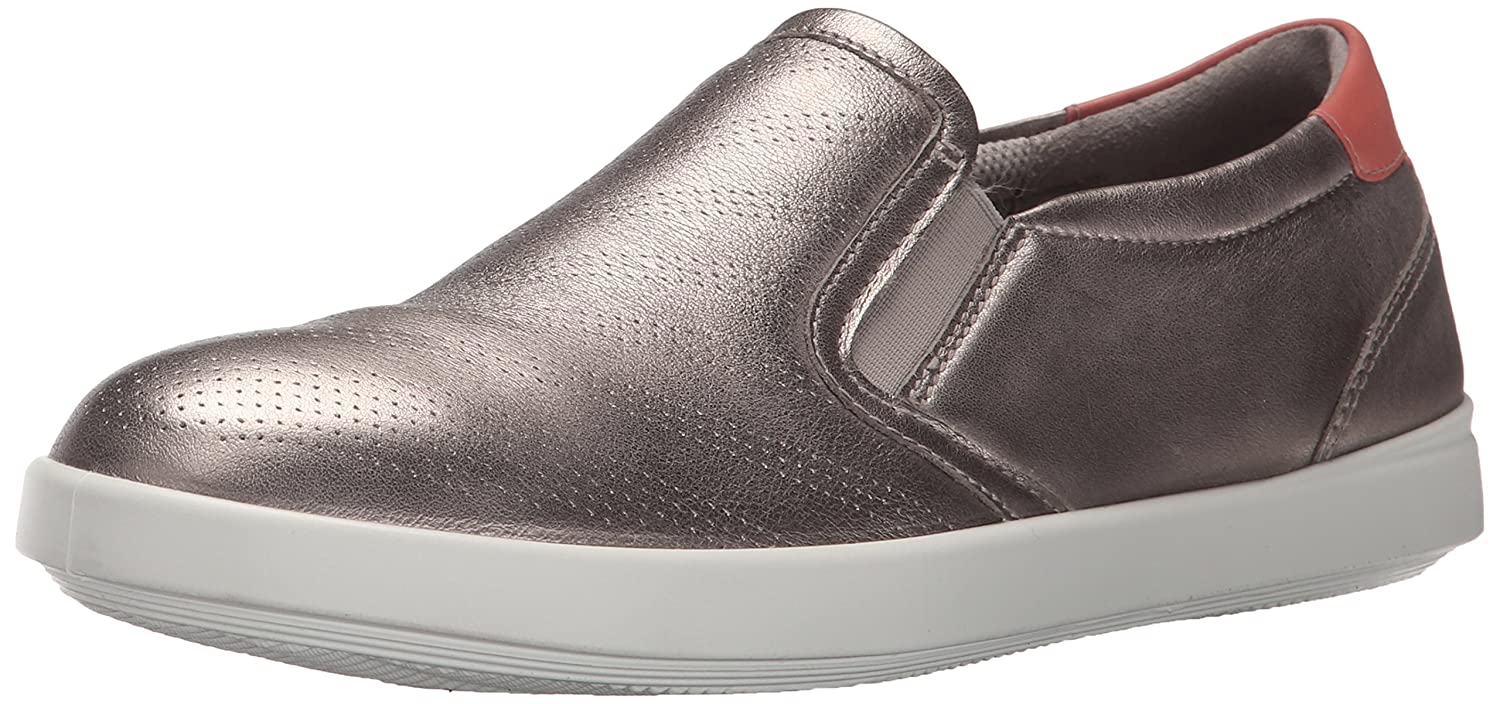 ECCO Women's Aimee Perforated Slip on Fashion Sneaker B00VR2IO8K 37 EU/6-6.5 M US|Moon Rock