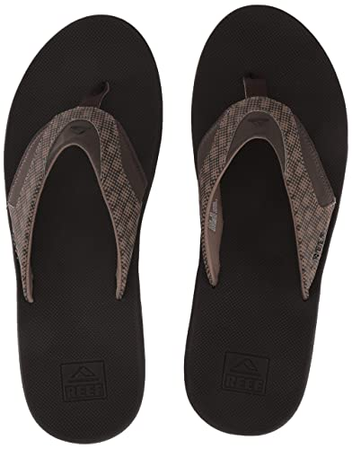 6b9a0d48b8cbe9 Reef Men's Fanning Prints Sandal, Brown/Hound, 4 Medium US