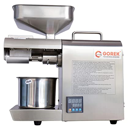 Gorek Technologies Stainless Steel GT-4T Automatic Oil Maker Machine ,400 W with…