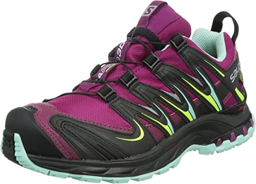 Salomon XA PRO 3D GTX - Zapatillas de correr en montaña para mujer, Morado (mystic purple/black/igloo blue), 36: Amazon.es: Zapatos y complementos