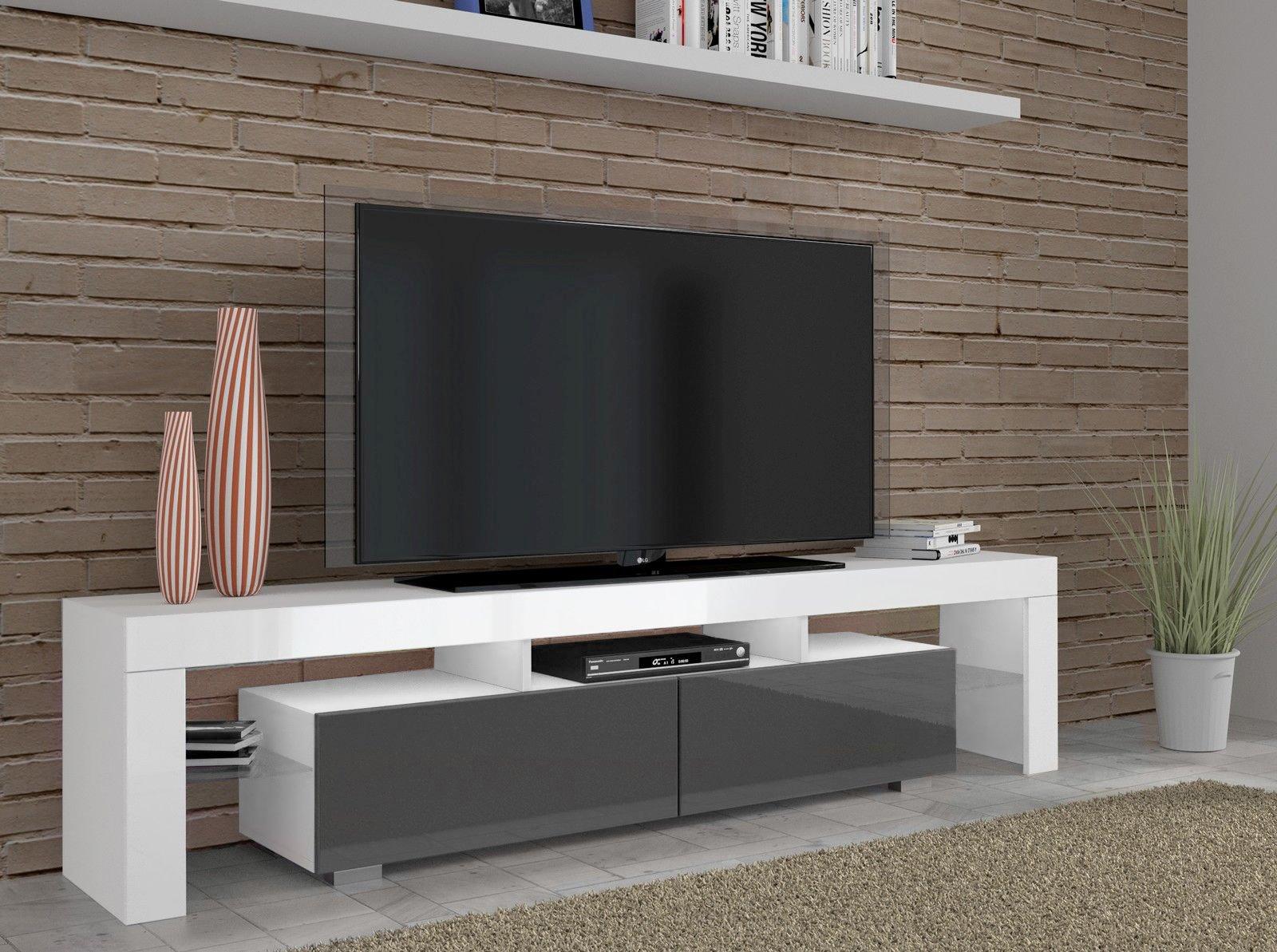 Copenhagen Tv Stand 190cm Gloss Finish Led Lighting Tv Entertainment