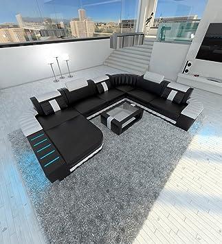 Couch u form xxl  Amazon.com: XXL Sectional Sofa BELLAGIO LED U Shaped: Kitchen & Dining