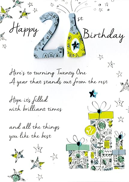 Happy 21st Birthday Greeting Card Second Nature Just Fabulous