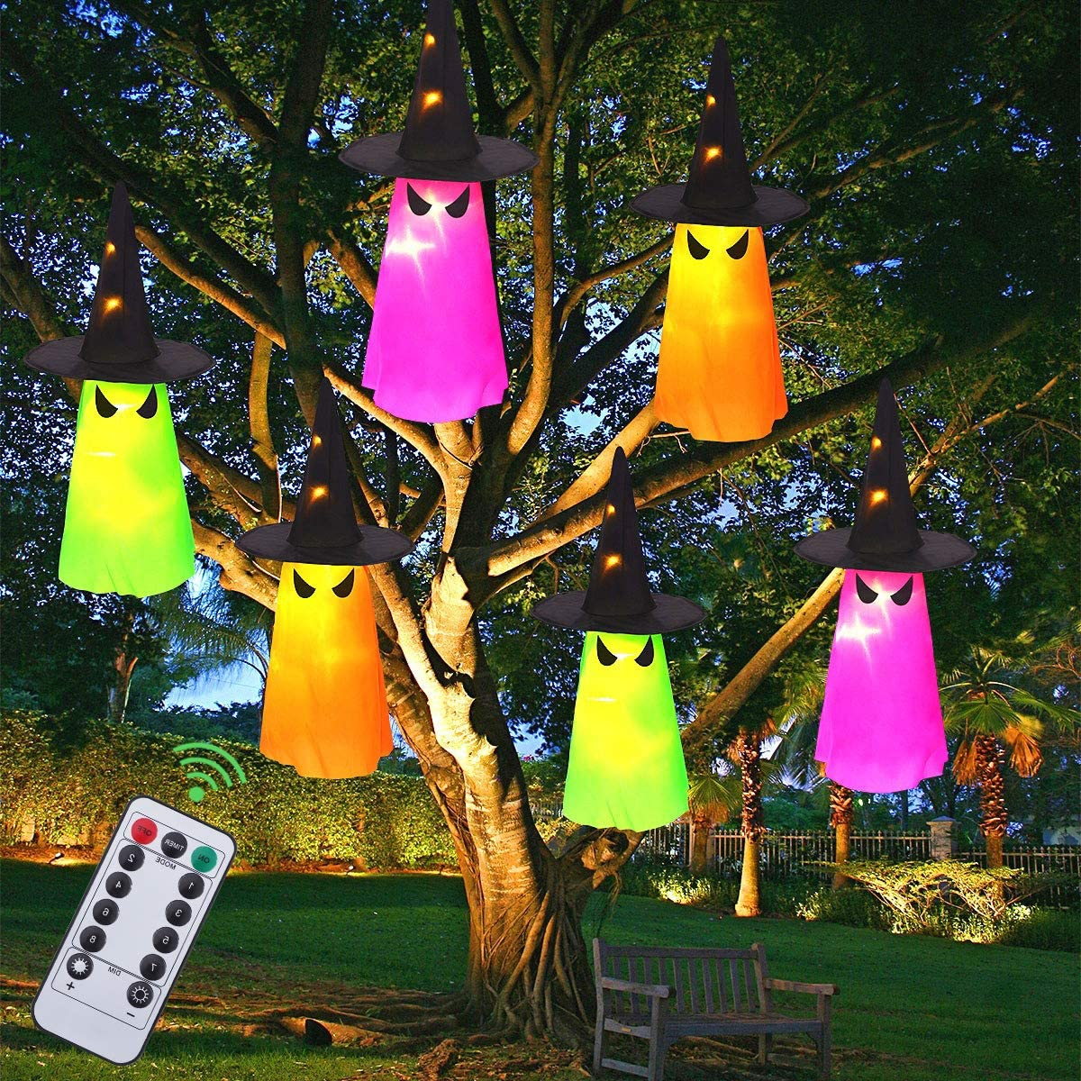 Lighted Hanging Ghosts