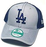 Los Angeles Dodgers LA New Era 9Forty Bold Mesher Trucker Gray Blue Snapback Hat