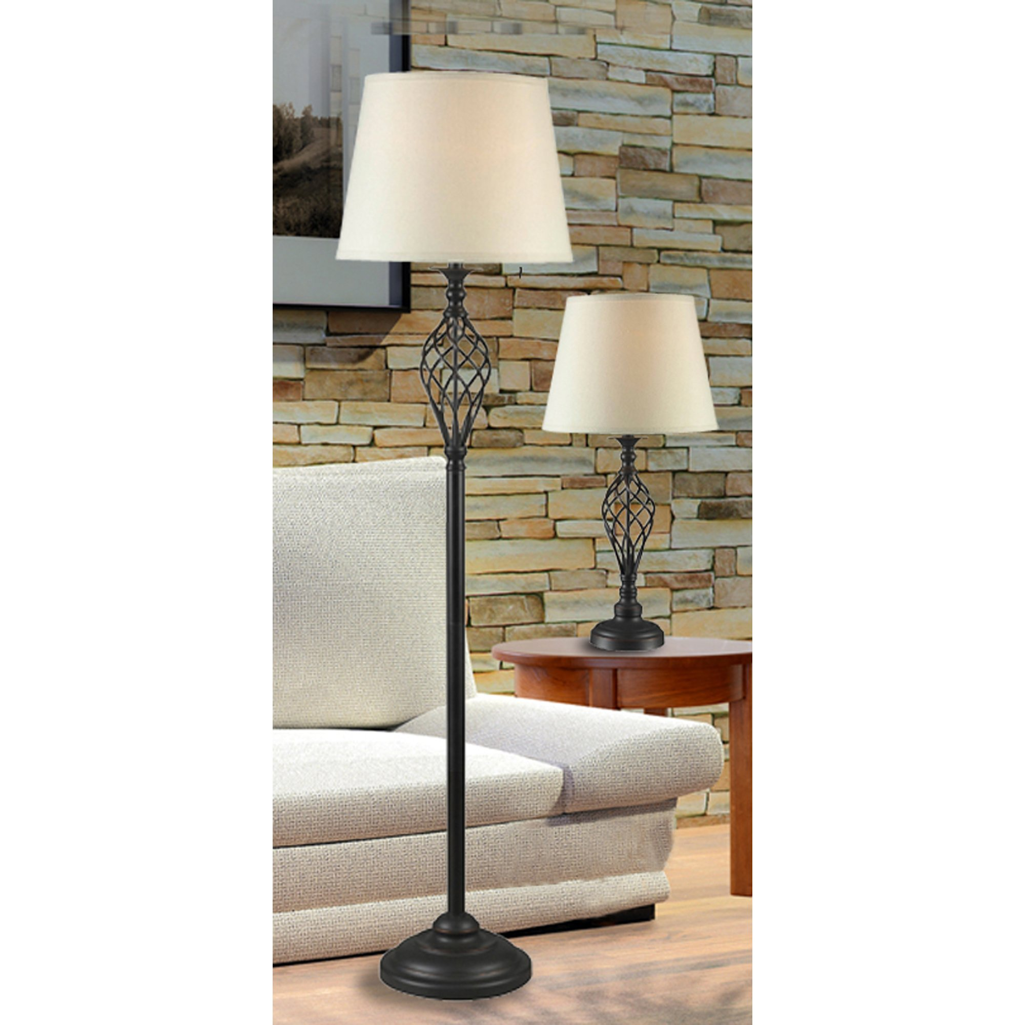 Kenroy Home 32190ORB Avett Lamp Set, 3-Pack by Kenroy Home