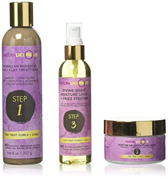 692393425131 NATURALICIOUS Hello Gorgeous Hair Care System For Tight Curls + Coils