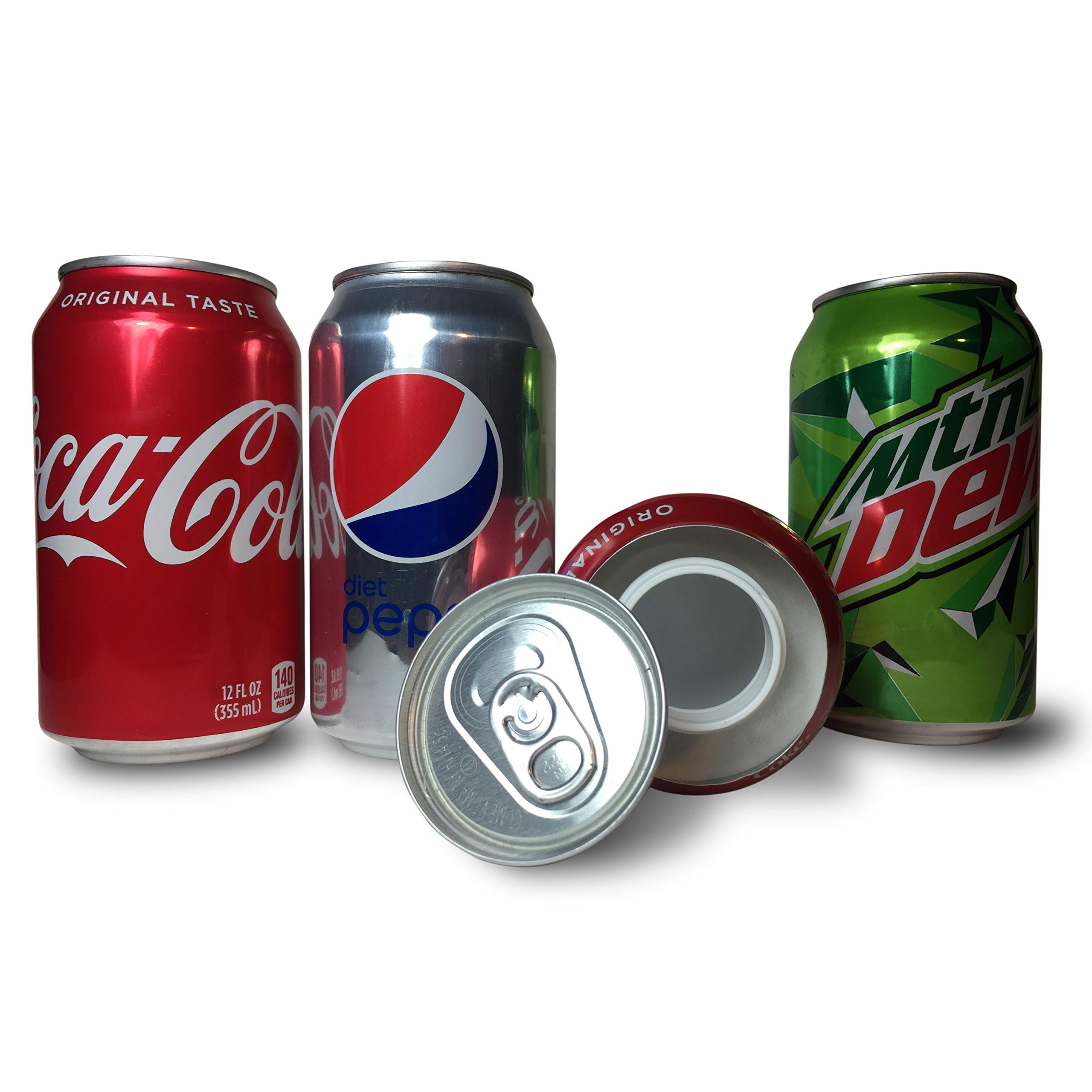 3 Secret Safe Diversion Soda Stash Safes Coke Diet Pepsi MNT Dew to Hide Money Jewelry Anything