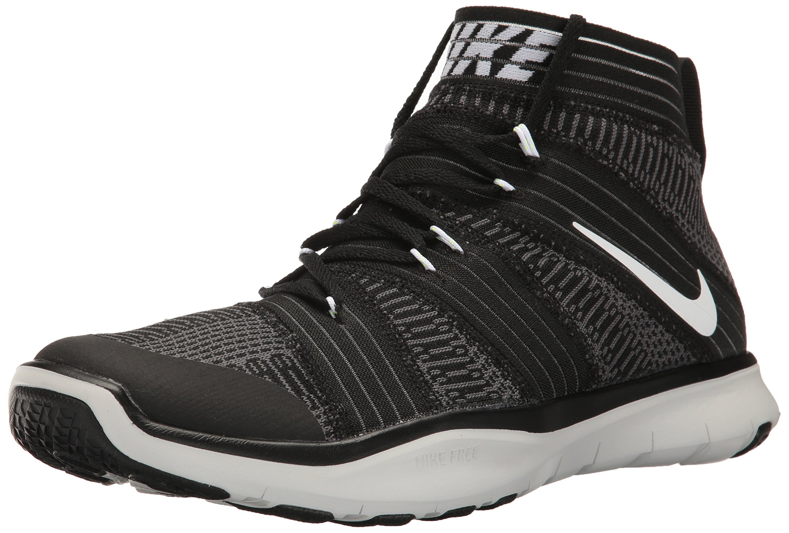 Nike Mens Free Train Virtue Training Shoes Black/White/Dark Grey 898052-001 Size 8