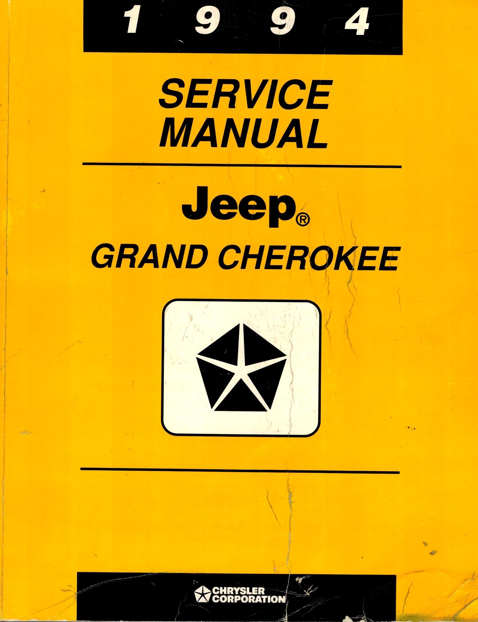 1994 Service Manual Jeep Grand Cherokee: Chrysler Corp: Amazon.com: Books