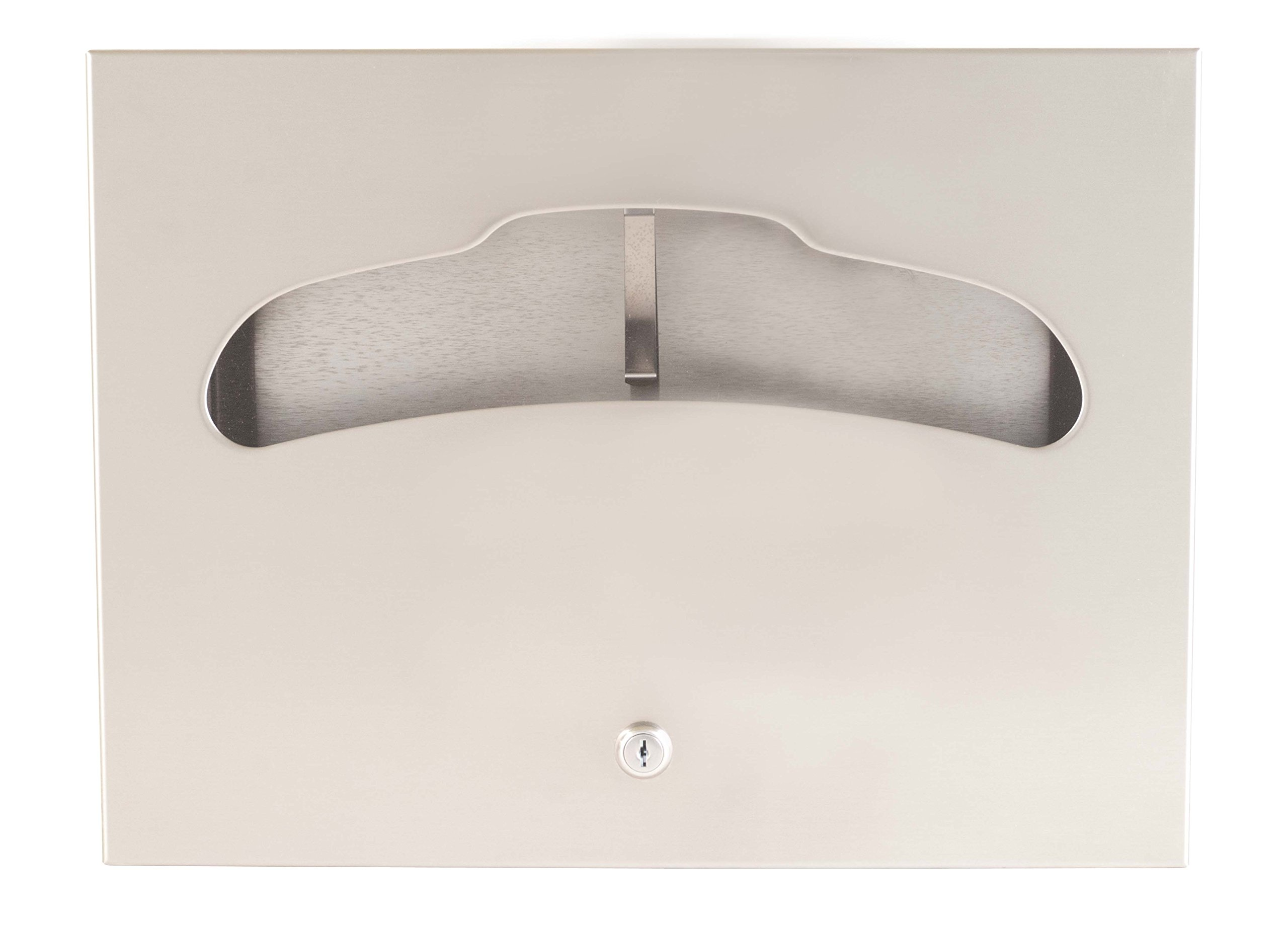 Bradley 5847-000000 Stainless Steel Recessed Mounted Toilet Seat Cover Dispenser, 500 Capacity, 17-3/8'' Width x 13'' Height x 3-1/4'' Depth by Bradley