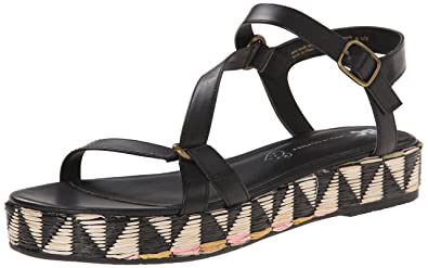 BC Footwear Women's Tuxedo Platform Sandal, Black, ...