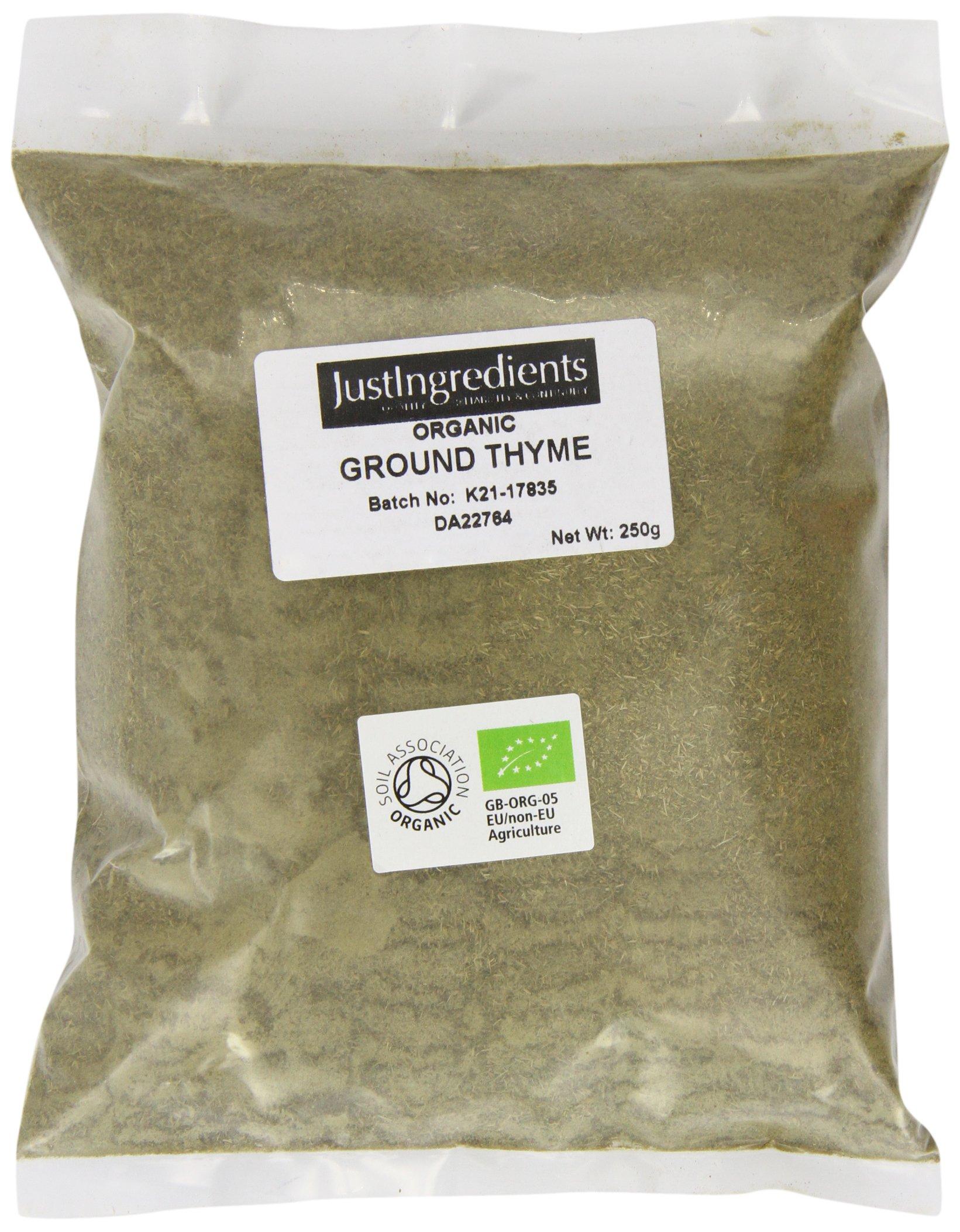 JustIngredients Organic Thyme Ground Loose 250 g (Pack of 2)