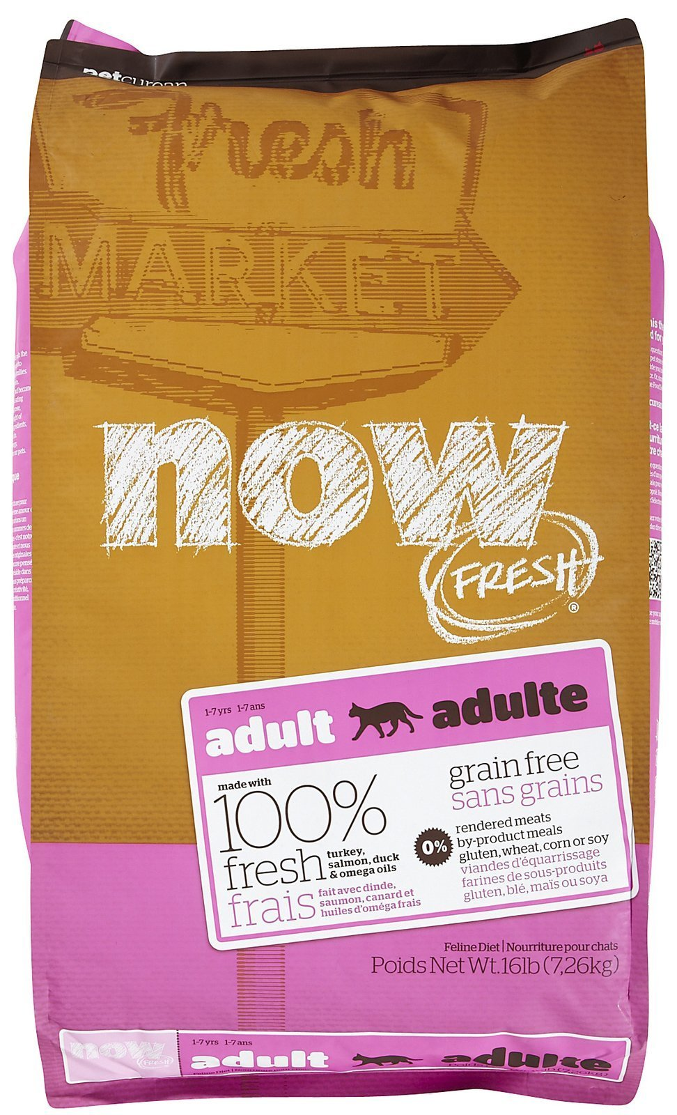 Now! 152320 Fresh Grain Free Food For Adult Cats, 16-Pound Bag by Now!