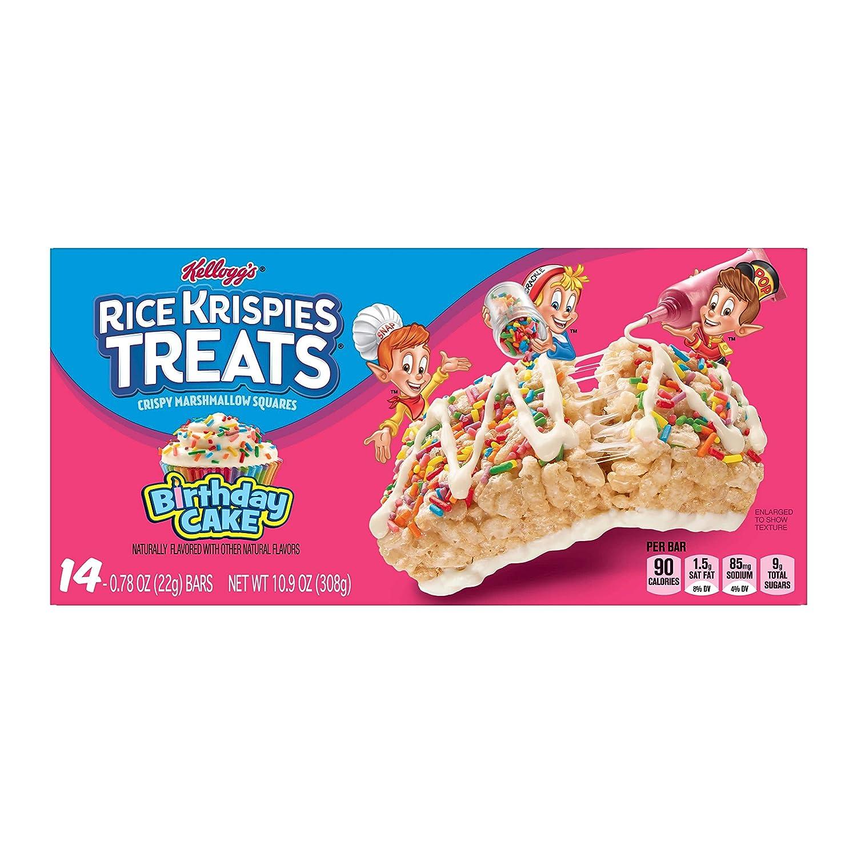 Amazon.com: Kellogg's Rice Krispies Treats, Crispy Marshmallow ...