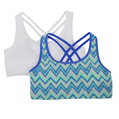 Amazon.com  Fruit of the Loom Strappy Back Sports Bra (Pack of 2 ... e2fbfe1b2
