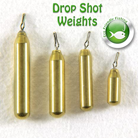 Brass Finesse Sinkers Drop Shot Weights NON TOXIC LEAD FREE Perch Fishing