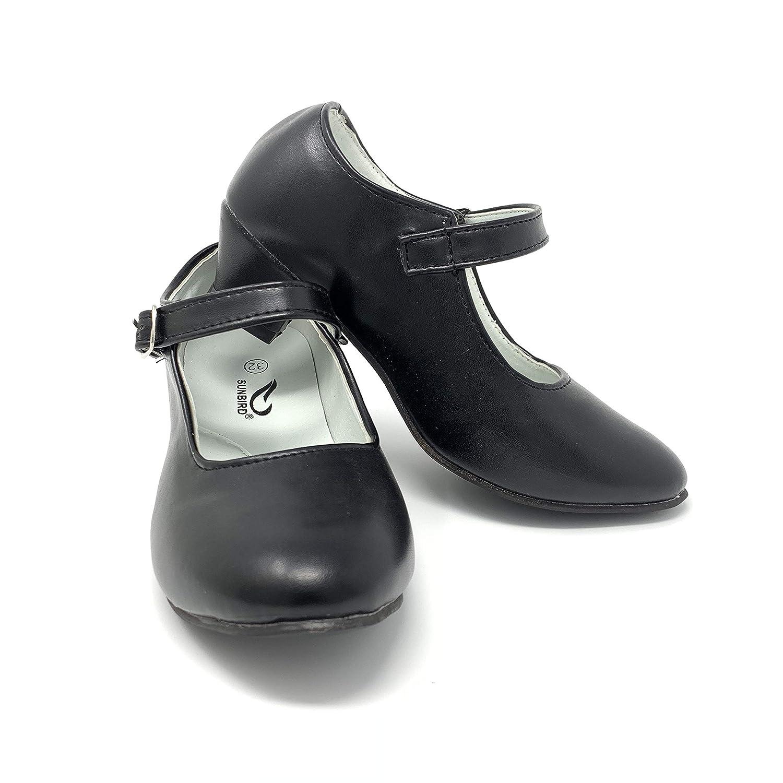 Zapato Flamenco Danza Baile Sevillanas ni/ña Mujer Negro Blanco