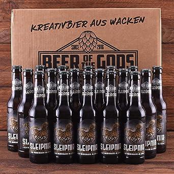 Wacken Brauerei Sleipnir - Pack de cervezas caseras - 18 botellas ...