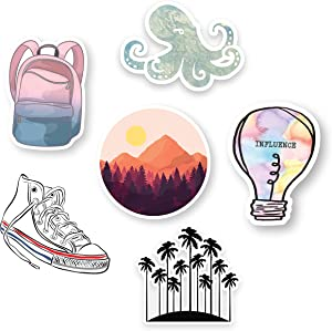 Scrapbooking Stickers, Trendy Stickers for Hydro Flask Stickers, VSCO,Water Bottle Stickers,Converse Sticker, Super Cute Stickers for Hydro Flask |Thick Cut, Dishwasher Safe Vinyl Edition|