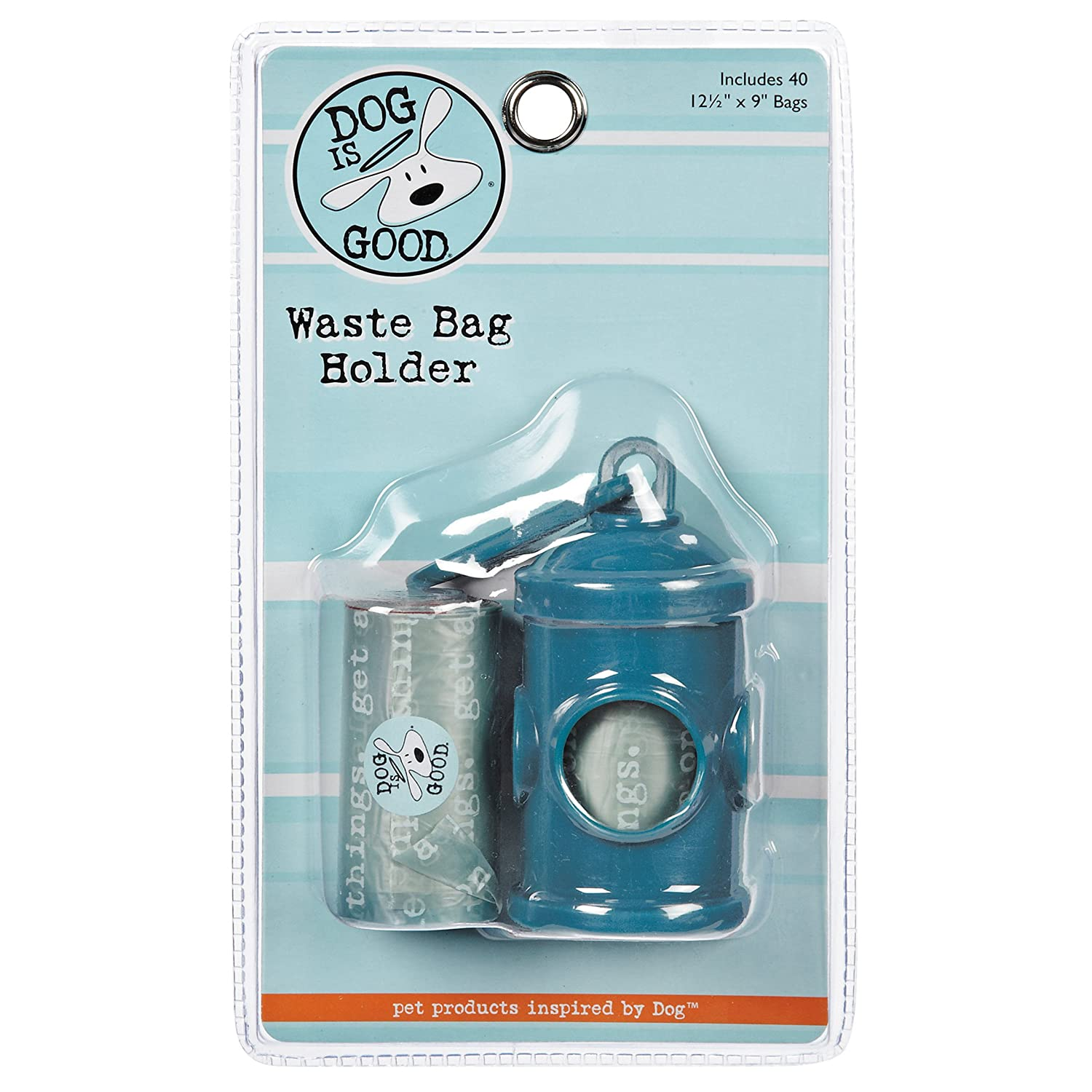 Amazon.com : Dog is Good Hydrant-Shaped Pet Waste Bag Holder, Belt ...