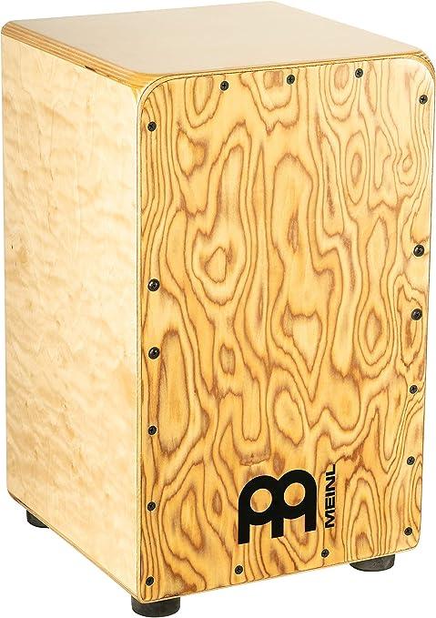 Meinl Cajon Box Tambor con cuerdas internas para efecto caja – no fabricado en China – Placa frontal Makah-Burl ...