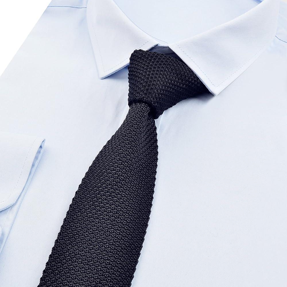 Alizeal Estructura-Corbata Ancha de Punto para Hombre Negro ...