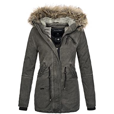Winterjacken grau damen