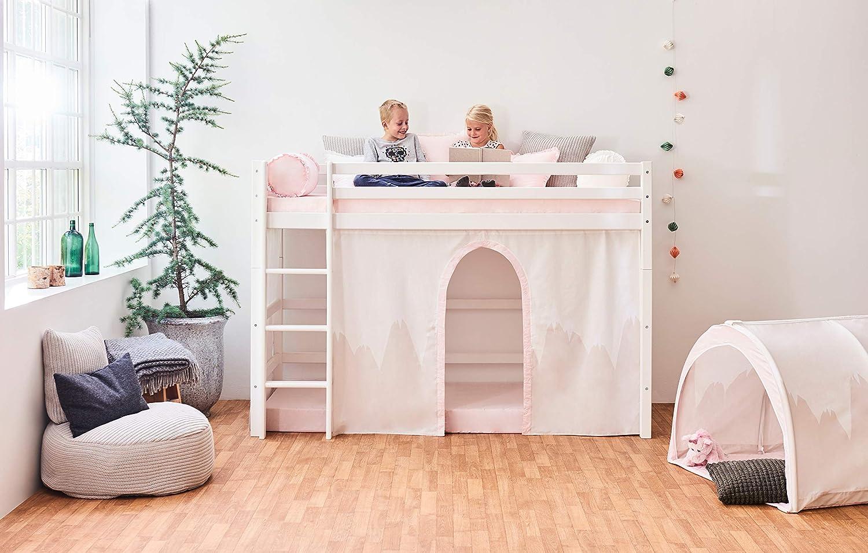 Winter Wunderland Baumwolle 70 x 160 cm Hoppekids Wonderland Vorh/änge f/ür Mittelhoches Bett