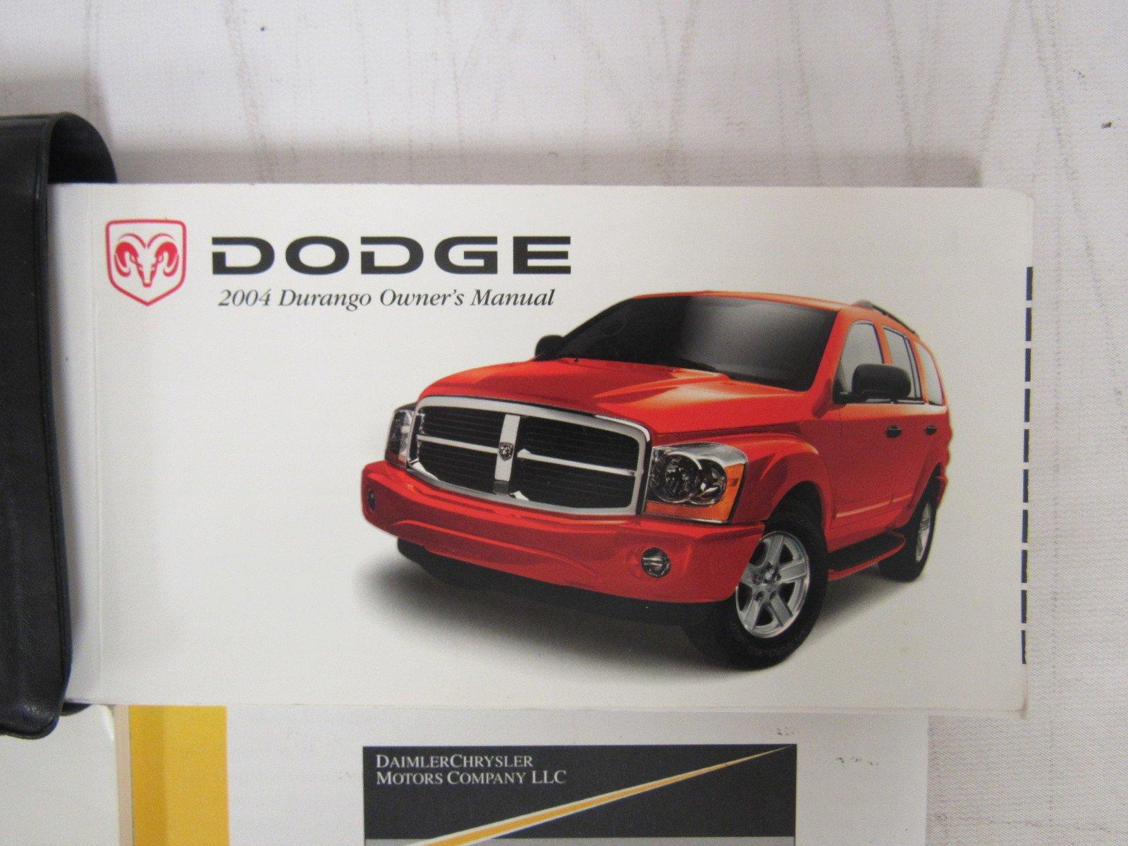 2004 dodge durango user manual