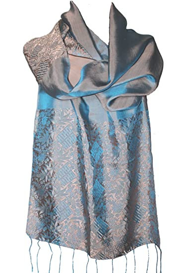 0219d8a66b8 SPECIAL SALE!!! Fandori Silk Scarf with Contrasting Color - One Size