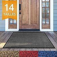 Paillasson etm® moucheté très absorbant | tapis d'entrée couloir | intérieur ou extérieur | lavable en machine | Anthracite gris noir, 90x150cm