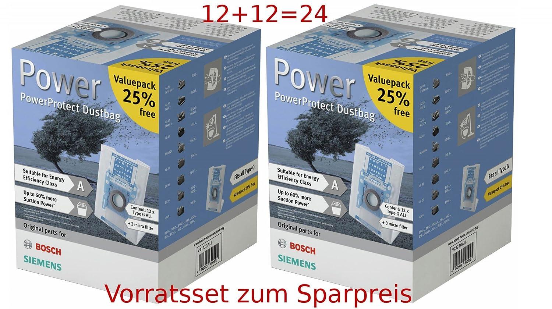 Siemens 24 sacchetti per aspirapolvere supertex typ g vz123gall neu
