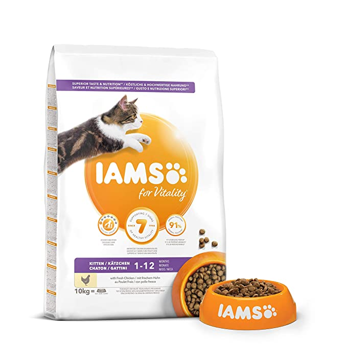 IAMS for Vitality Alimento para Gatitos con pollo fresco [10 kg]