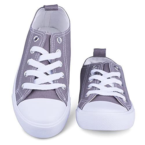 645f3662199 ShoeShox Fashion Canvas Sneakers, Girls Boys Youth Toddlers Kids, Lace up  Shoes