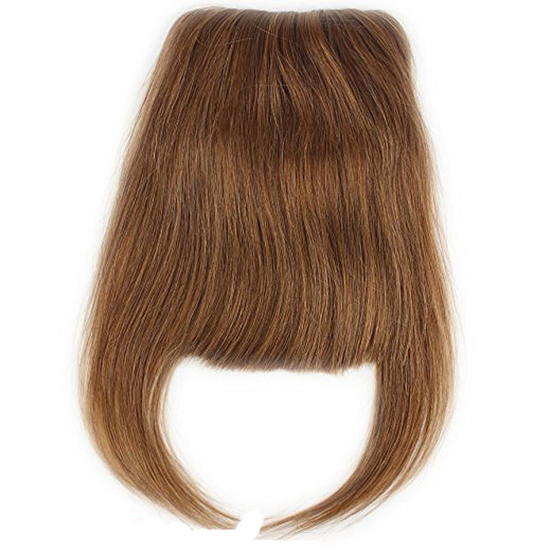 Brazilian Human Hair Clip-in Hair Bang Full Fringe Short Straight Hair Extension for women 6-8inch (#4) Qingdao Feiyang Hair Co. Ltd