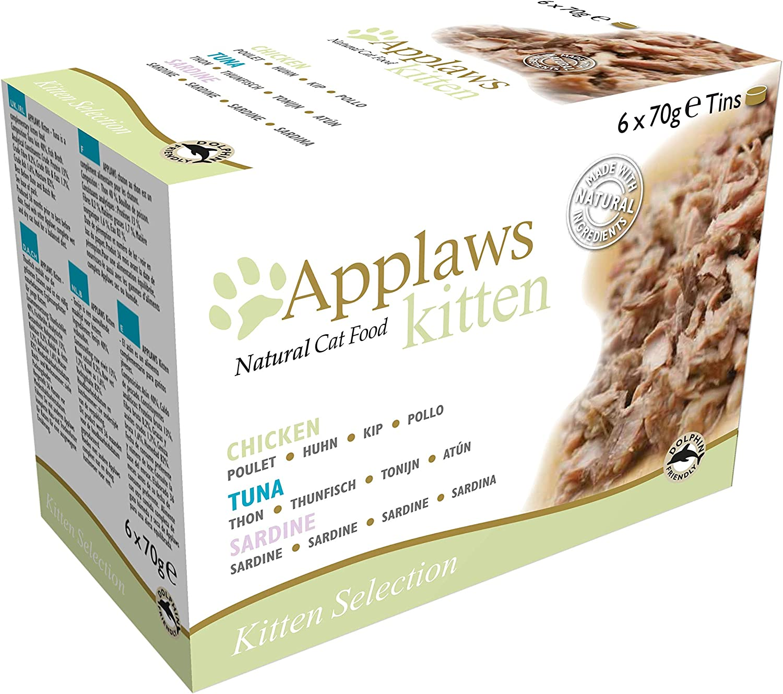Applaws Lata para Gatos, Paquete de 6 Unidades (6 x 70 g)